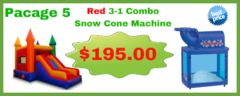 Red 3-1 Combo + Snow Cone Machine
